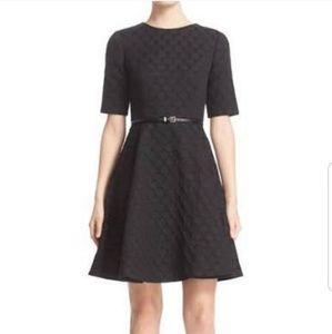 Ted Baker | Cealine black polka dot flare dress